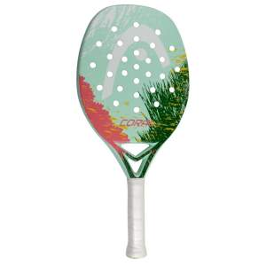 Raquete beach tennis head coral