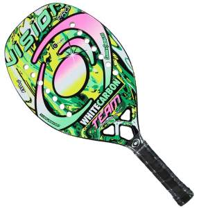 raquete beach tennis vision white carbon